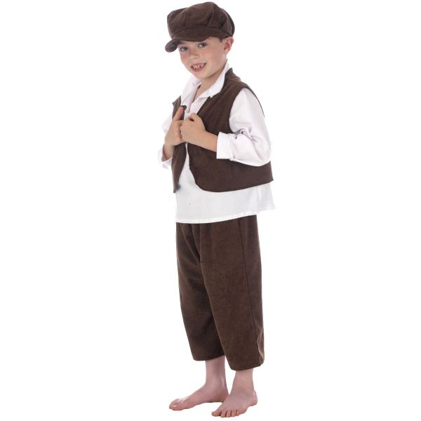 Children's Boys Victorian Urchin Oliver Twist Fancy Dress Up Costume